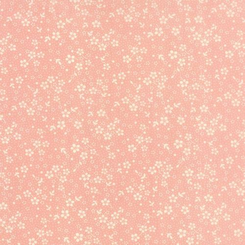 Moda - 30s Playtime, Bettys Pink Floral - Pink Cotton Patchwork Fabric